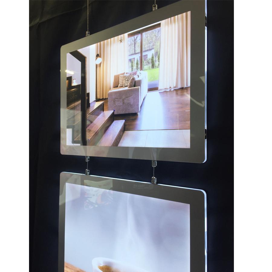 מסגרות לד, תמונות מוארות לחלונות ראווה ומשרדי תיווך