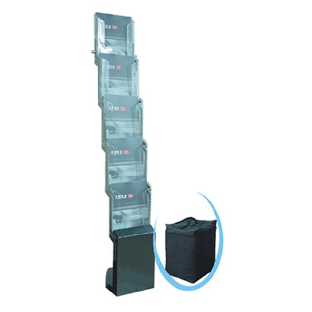 סטנד לקטלוגים 5 תאים פרספקס A4