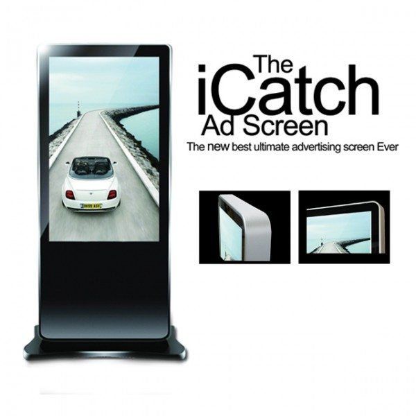 electronic advertising stand