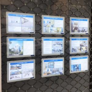מסגרות לד ותמונות מוארות לחלונות ראווה ומשרדי תיווך